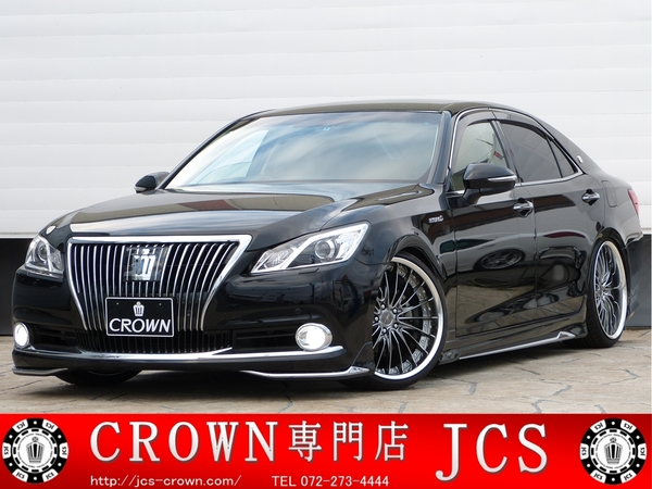 339万円 クラウン HV2.5L MJエアロスタイルG TEIN WORK20インチ モデリスタエアロ